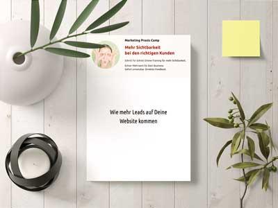Marketing Praxis Camp: Wie mehr Leads auf Deine Website kommen